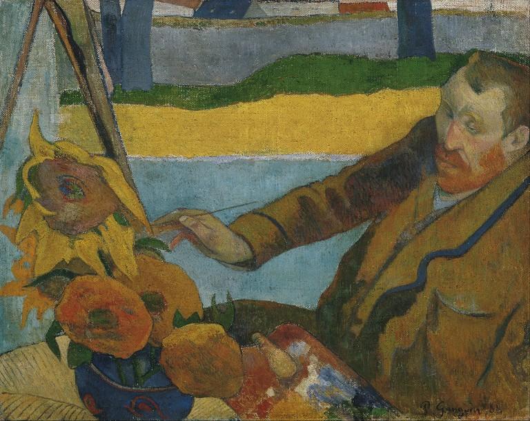 Paul Gauguin - Vincent van Gogh painting sunflowers - Google Art Project