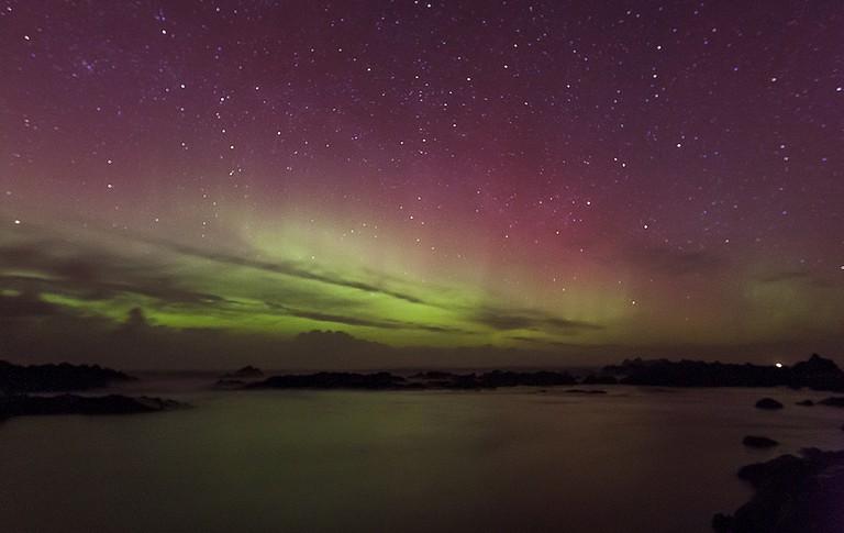 Northern Lights at Malin Head