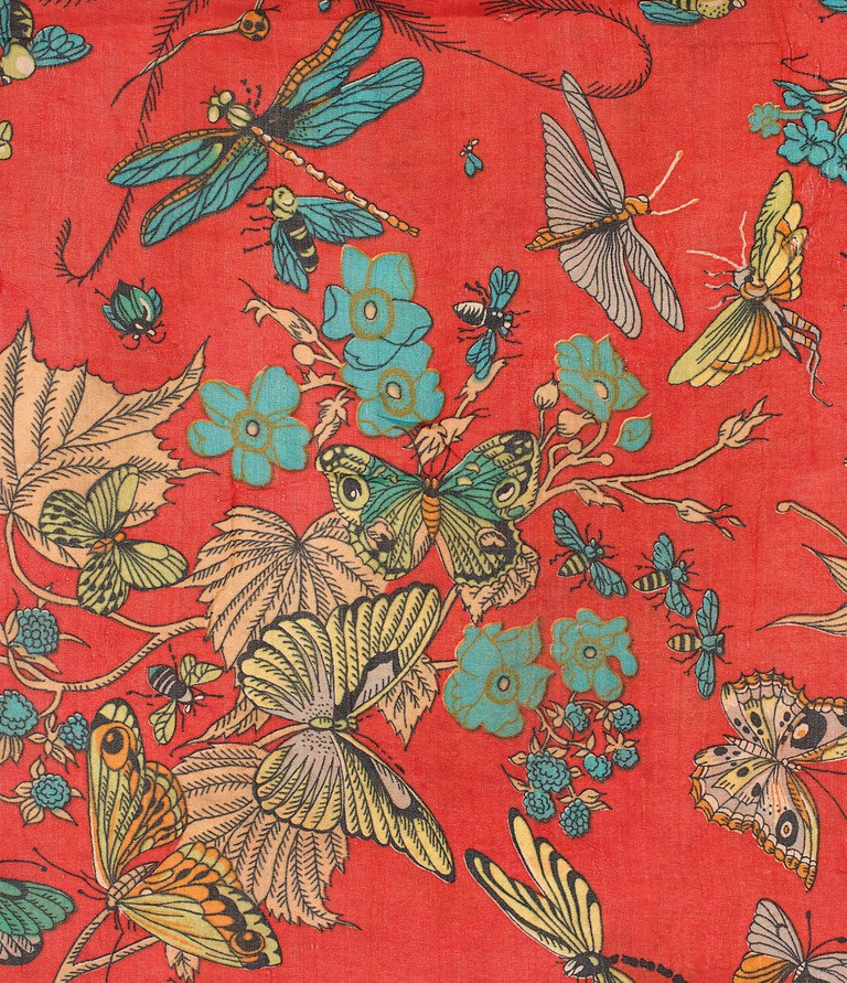 Insects, Printed Fabric, Mid 20th Century, Anonymous, Studio Unknown, France.