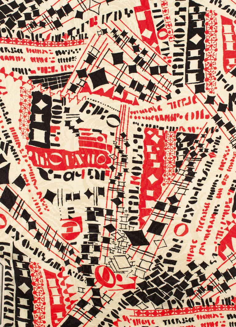Jazzy, Printed Fabric, 1936, Anonymous, Studio Bianchini-Ferier, France.