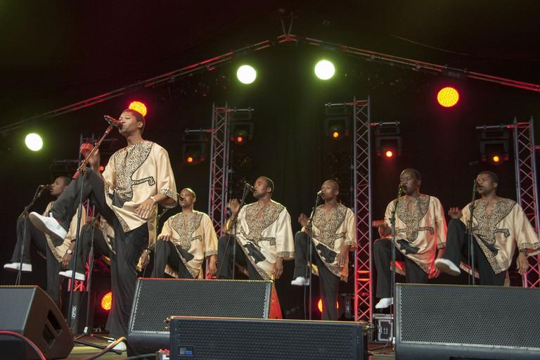Ladysmith Black Mambazo performing in the UK