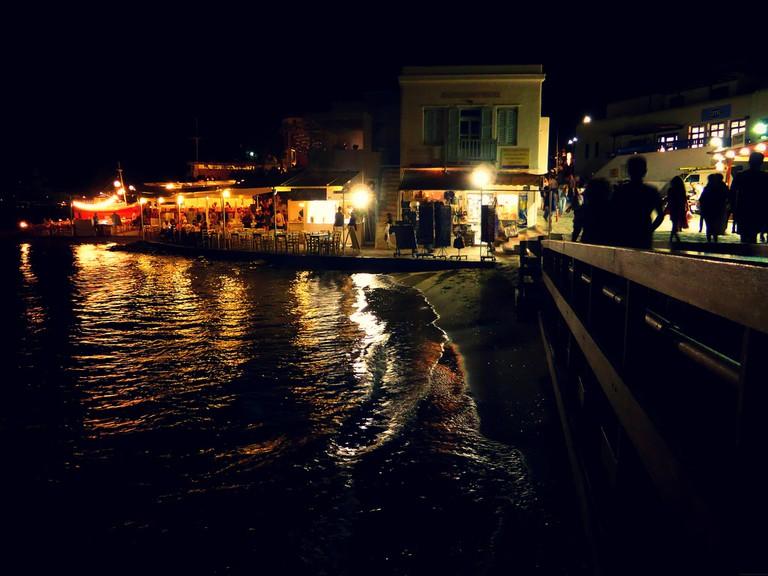 Mykonos by night