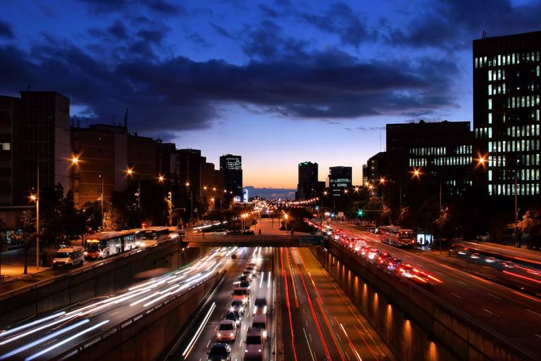 The busy Avinguda de Diagonal