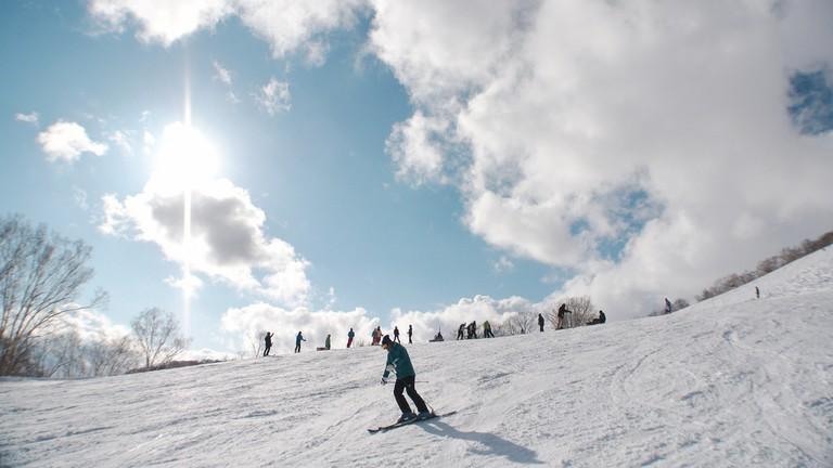 Skiing in Niseko, Hokkaido
