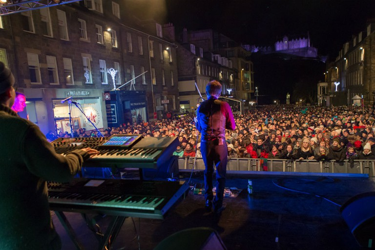 Castle Street Stage | © Tartanzone Photo / Courtesy Of Edinburgh's Hogmanay
