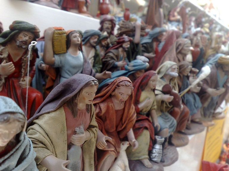 Traditional nativity figurines