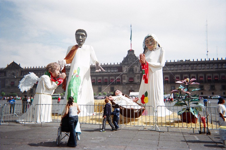 Oversized Mexican Christmas figures