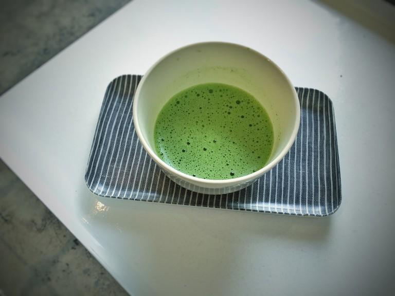 Tea made from high-quality matcha
