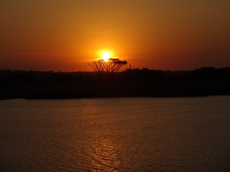Sunset over the Hluhluwe River, iSimangaliso Wetlands Park