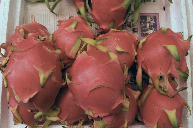 Street side dragon fruit