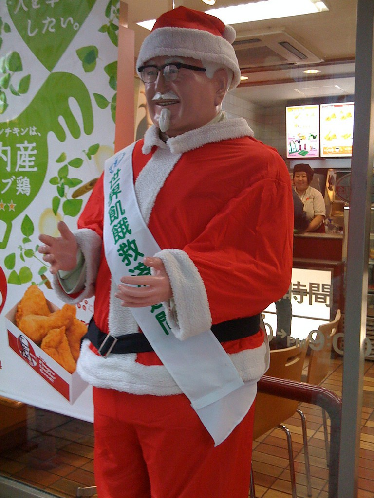 Colonel Sanders as Santa in Nagoya, Japan | © Robert Sanzalone/Flickr