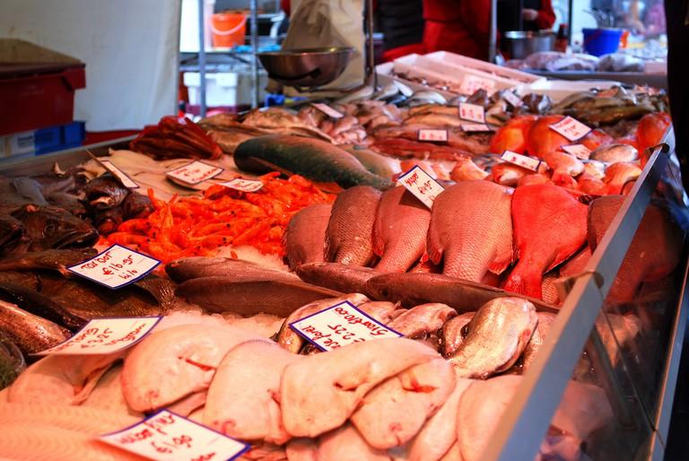 Fresh fish at Dappermarkt