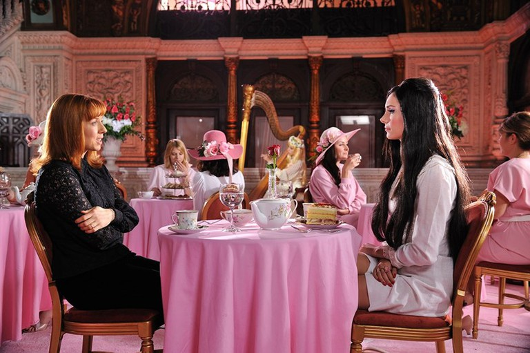 Laura Waddell, left, as Trish, with Samantha Robinson