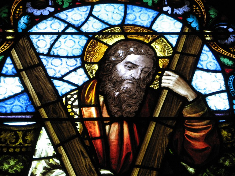 Saint Andrew, Early 20th Century Stained Glass | © Randy OHC/Flickr
