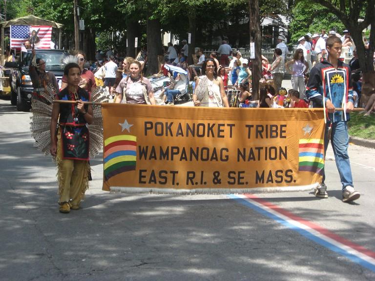 Pokanoket Wampanoag banner | © H.C. Williams/Flickr