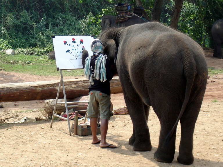 Elephant painting, Chiang Mai, Thailand