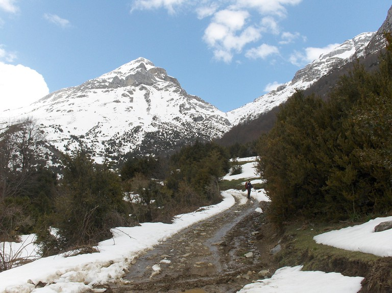 The Pyrenees in winter