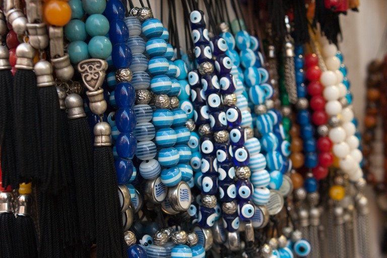 Kombolói or worry beads for sale in Monastiraki