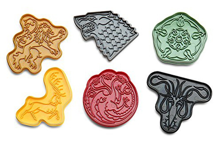 Houses of the Seven Kingdoms cookie cutters.