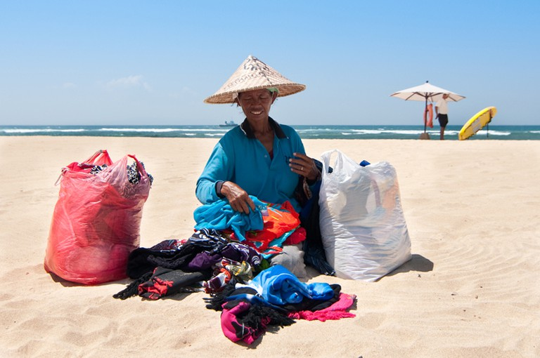Beach sarong lady