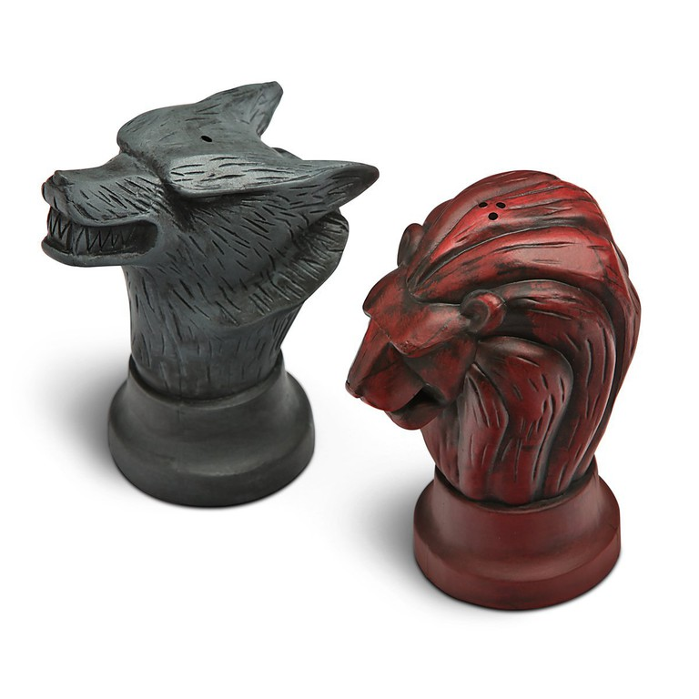 Game of Thrones Map Marker salt and pepper shakers.