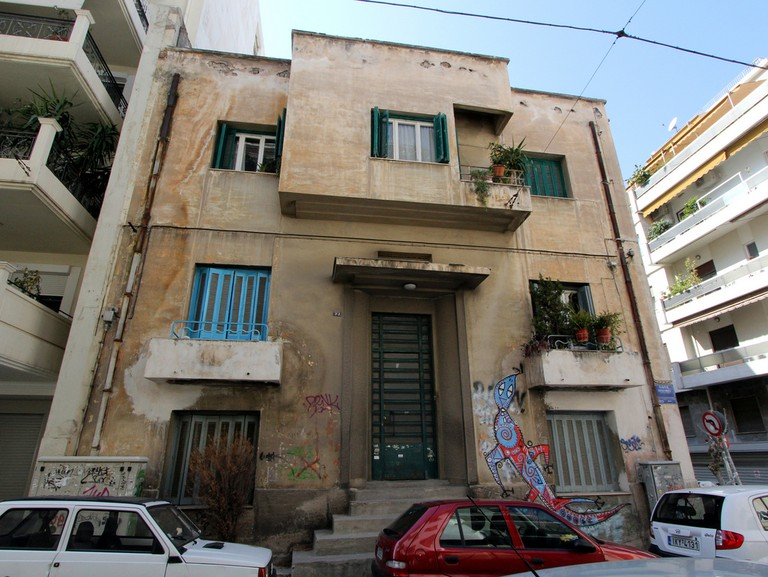 Building in Pagrati, Athens, Greece