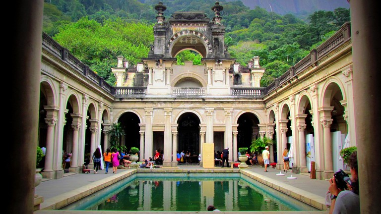 The inside of the stunning Parque Lage mansion