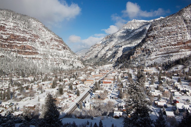 Ouray, CO in the Winter
