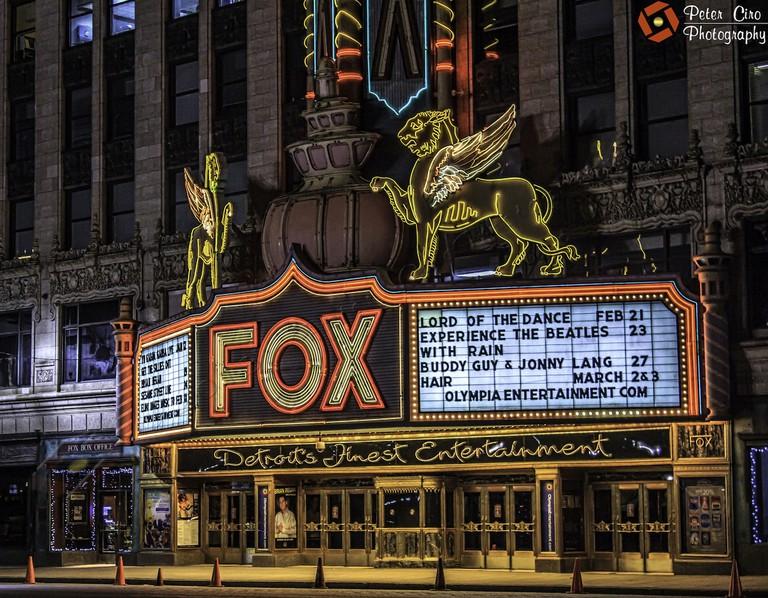 Historic Fox Theatre - Detroit, MI | © Peter Ciro/Flickr