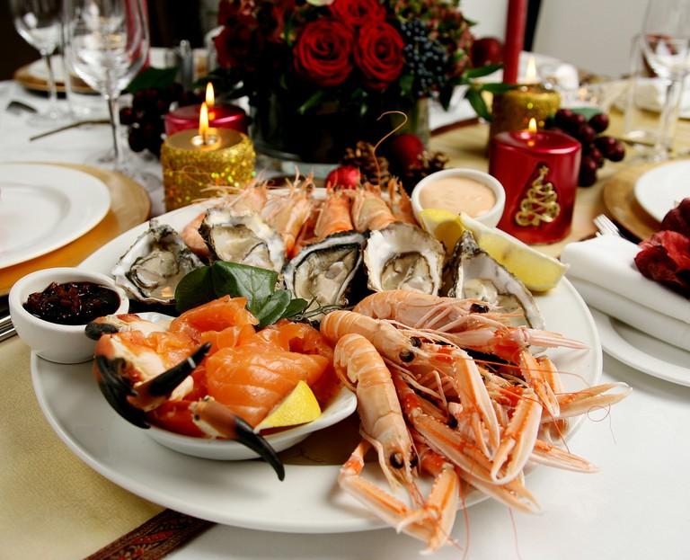 Christmas seafood