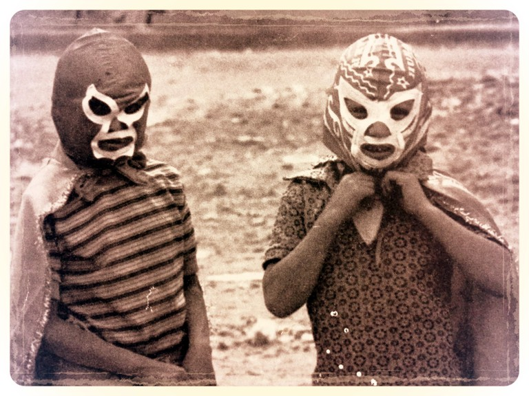 Kids in lucha libre masks, 1970s│