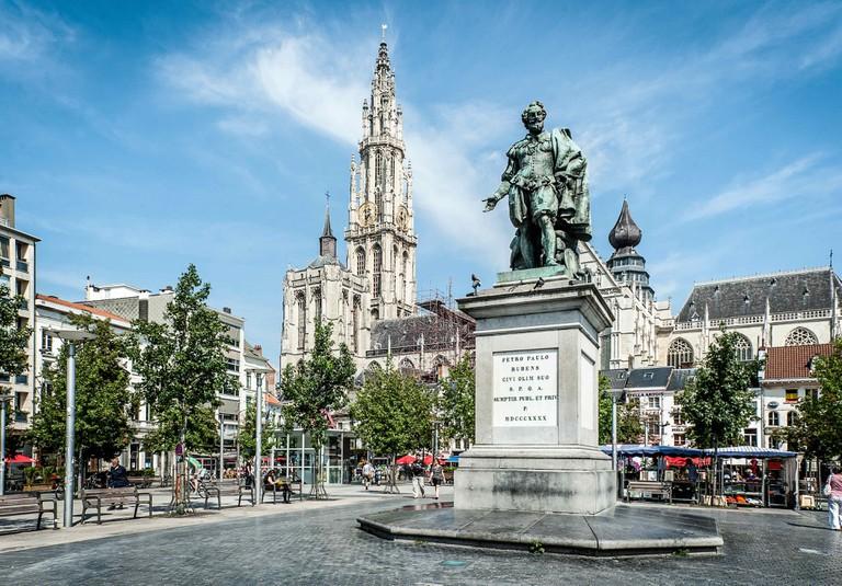 Antwerp's Groenplaats square