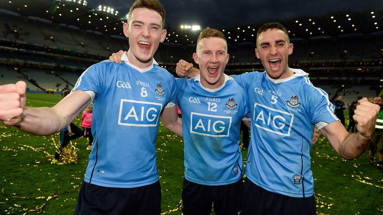 Brian Fenton (Raheny), Ciaran Kilkenny, (Castleknock) and James McCarthy (Ballymun Kickhams) | Courtesy of GAA.ie