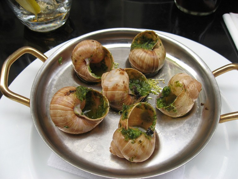 Escargots with garlic butter │