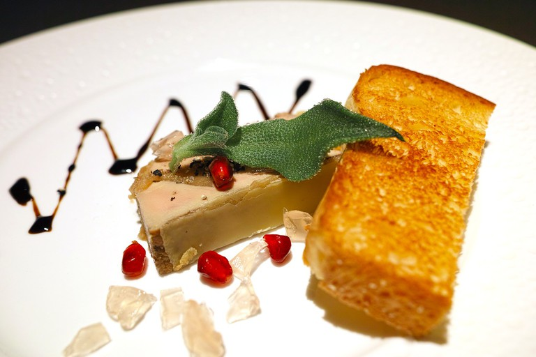 Festive foie gras and toast │