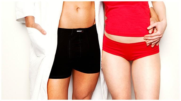 Red and black underwear