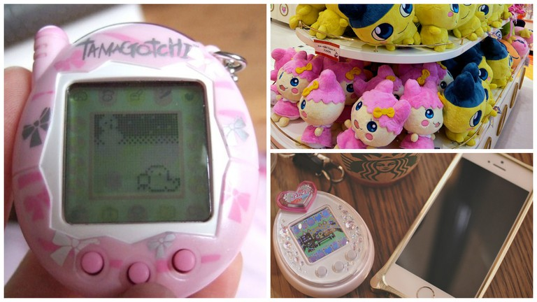 Tamagotchi | © Katy/Flickr / Tamagotchi plushies for sale | © DocChewbacca.com/Flickr / Tamagotchi at the cafe | © MIKI Yoshihito/Flickr