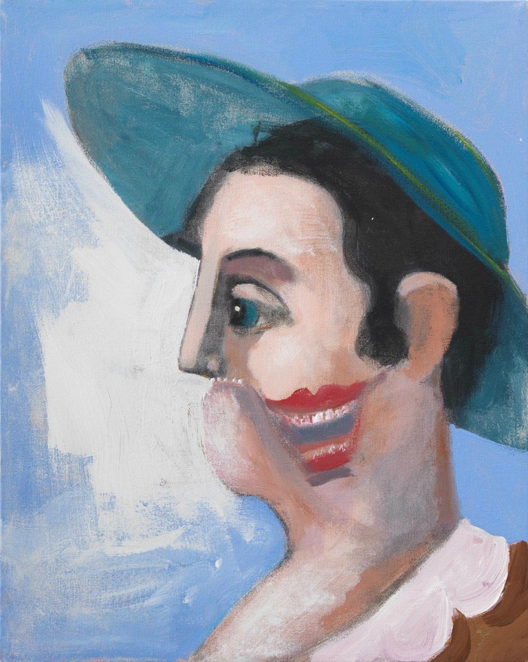 George Condo Windswept Figure, 2007 Oil on canvas, 50.8 x 40.6 cm Collection of the artist, New York Courtesy Sprüth Magers and Skarstedt © VG Bild-Kunst, Bonn 2016 Photo: © George Condo 2016