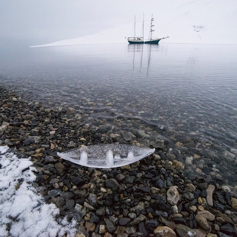 Ice Boat with Antigua in Gravneset, 2015