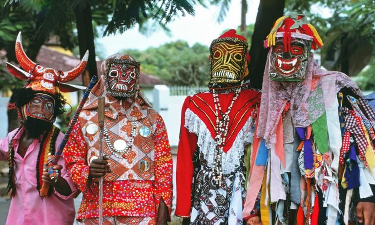 John Canoe festival celebrants, Kingston, Jamaica