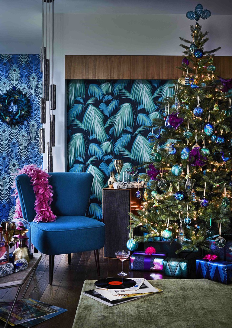 John Lewis has opted for a 'maximalist' aesthetic with its peacock-coloured theme