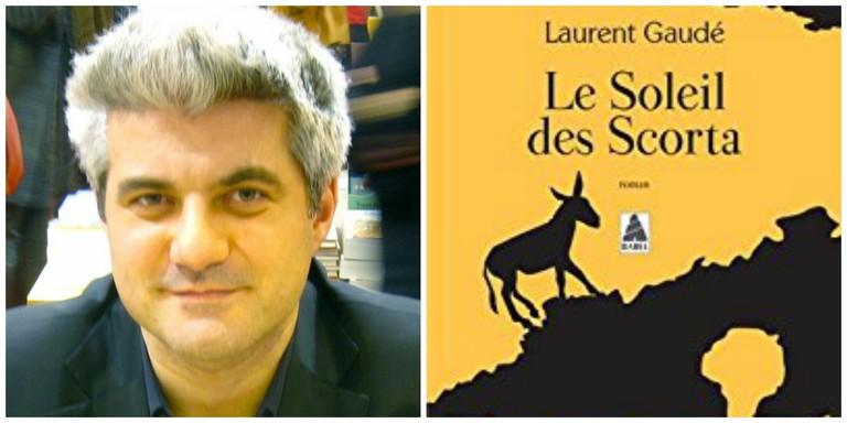 Laurent Gaudé in 2009 │© ΛΦΠ ; Laurent Gaudé's Le Soleil des Scorta │© Babel