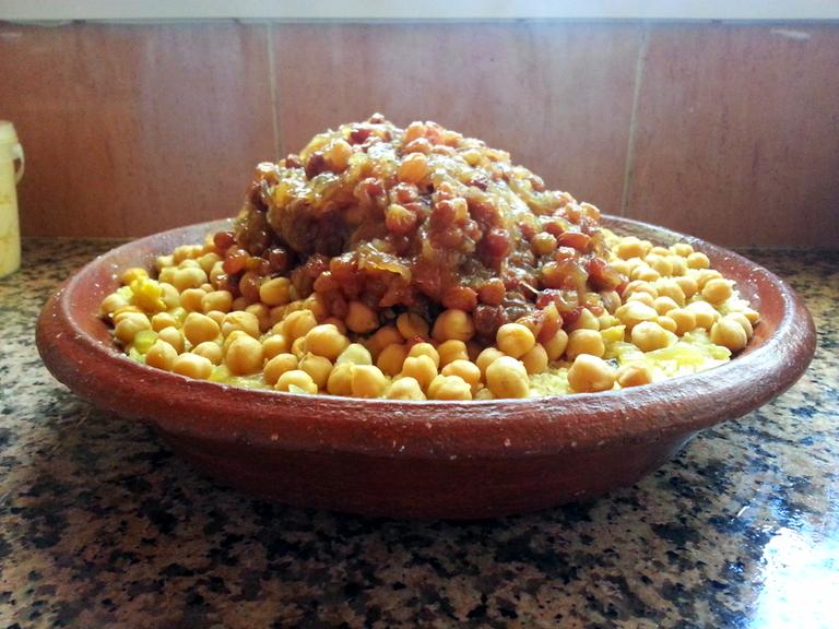 Moroccan tfaya couscous