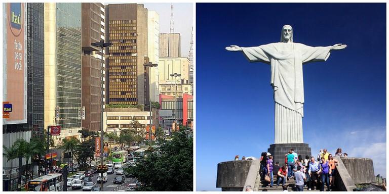 Paulista Avenue |© Samwingkit/WikiCommons | Christ the Redeemer |© dany13/Flickr