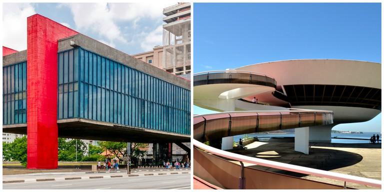 MASP Sao Paulo |© The Photographer/WikiCommons | Museum of Contemporary Art in Rio |© Rodrigo Soldon/Flickr