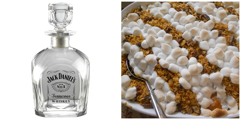 """Jacksgiving"" Theme with Jack Daniels-infused sweet potato casserole"