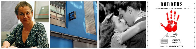Anne Enright | © Hpschaefer/WikiCommons / Project Arts Centre Dublin | © Smirkybec/WikiCommons / Donna Reed and James Stewart in It's a Wonderful Life | © Lassos the moon/WikiCommons / Music Without Borders poster | Courtesy of The Workman's Club