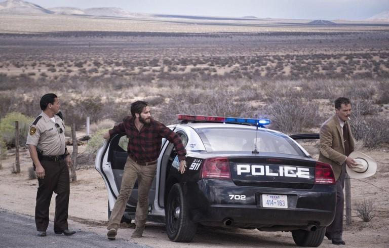 Texas badlands: Jake Gyllenhaal (c.) and Michael Shannon (r.)