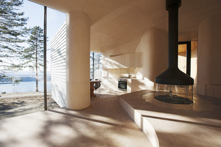 This futuristic cabin in Norway's Kroskogen Forest was designed by Atelier Oslo