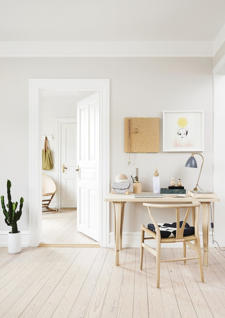 Founder of OYOY and homeowner Lotte Fynboe likes a simple, playful interior with graphic shapes